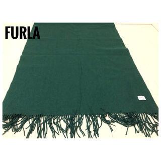 Furla - FURLA 大判 ストール マフラー グリーン レディース ブランドマフラー