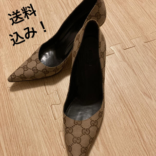 Gucci - GUCCI  バンブー ヒール パンプス モノグラム グッチシマ 靴