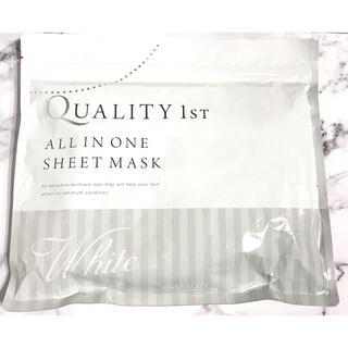 QUALITY FIRST - クオリティファースト ホワイトEX シートマスク 50%プラセンタ配合 30枚入