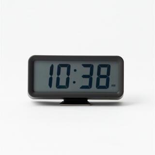 MUJI (無印良品) - 新品★無印良品★ デジタル時計・小 ブラック muji 時計 置時計 アラーム◆