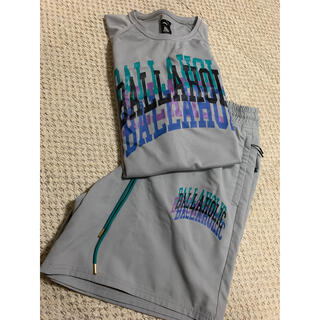 ballaholic college logo tee & shorts L