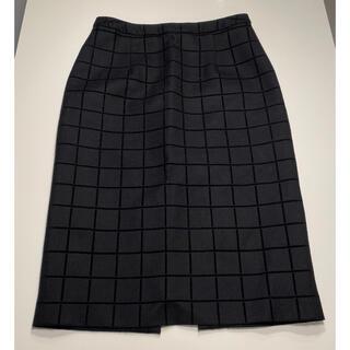 ルシェルブルー(LE CIEL BLEU)のひざ丈スカート LE CIEL BLEU ブラック チェック(ひざ丈スカート)