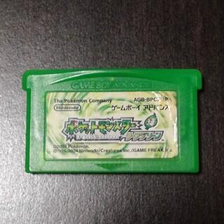 ゲームボーイアドバンス(ゲームボーイアドバンス)のポケモン リーフグリーン gba ソフト(携帯用ゲームソフト)