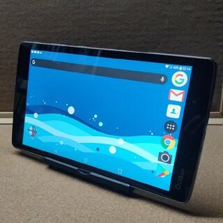 エルジーエレクトロニクス(LG Electronics)のsimフリー防水タブレット Qua tab ネイビー(タブレット)