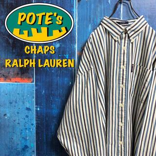 Ralph Lauren - 【チャップスラルフローレン】ポケットロゴタグビッグストライプシャツ 90s