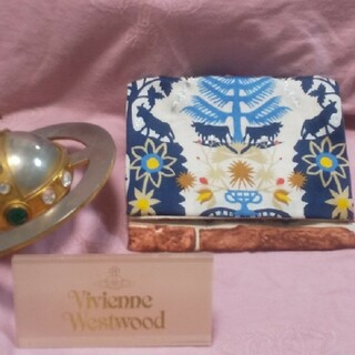 Vivienne Westwood - ボタニカル ミニポーチ クリスマスプリント ヴィヴィアン