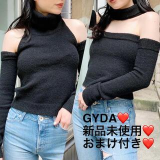 ジェイダ(GYDA)の【新品未使用】GYDA 2WAYチョーカーベアニットトップス(ニット/セーター)