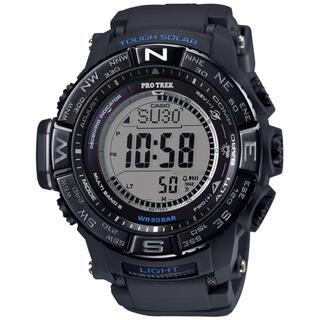 カシオ(CASIO)のカシオ プロトレック トリプルセンサー Ver.3 電波ソーラー腕時計 ブラック(腕時計(デジタル))