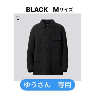 UNIQLO - ユニクロ+J ダブルフェイスオーバーサイズワークジャケット 黒 Mサイズ