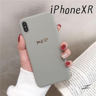 大人気!PhoneXR シンプルカラー カバー ケース グレー(iPhoneケース)