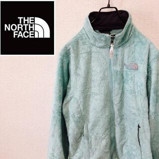 ザノースフェイス(THE NORTH FACE)のノースフェイス☆刺繍ロゴ フリースジャケット ミントグリーン(ブルゾン)