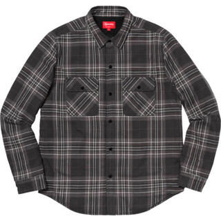 Supreme - 18AW Supreme Pile Lined Plaid Flannel 黒M