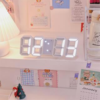 ♡SNSで大人気♡LED デジタル時計 時計 壁掛け 韓国時計 3D 置き時計