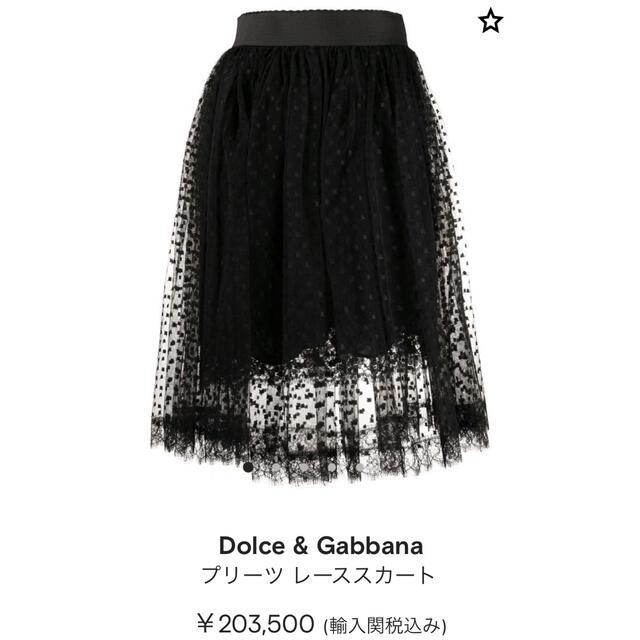 DOLCE&GABBANA(ドルチェアンドガッバーナ)の新品タグ付【Dolce&Gabbana】2020年レーススカート レディースのスカート(ひざ丈スカート)の商品写真