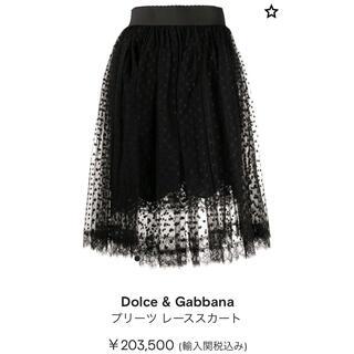 DOLCE&GABBANA - 新品タグ付【Dolce&Gabbana】2020年レーススカート