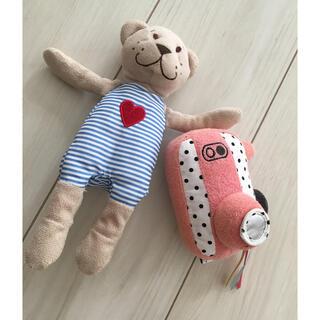 イケア(IKEA)のIKEAのクマさんとカメラのおもちゃのセット(がらがら/ラトル)