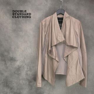 ダブルスタンダードクロージング(DOUBLE STANDARD CLOTHING)のDOUBLE STANDARD CLOTHING レザー×ニット切替 ジャケット(ノーカラージャケット)