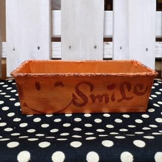 パウンド型 リメイク缶、リメイク鉢 オレンジ(プランター)