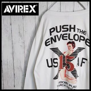 AVIREX - 【AVIREX】【バックプリント】【ピンナップガール】【ビックシルエット長袖T】