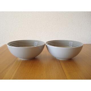 ルクルーゼ(LE CREUSET)のルクルーゼ シリアルボール 6in 2個セット ミストグレー■未使用 ボウル (食器)