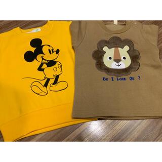 Disney - ミッキー、ライオン、トレーナー90cm新品