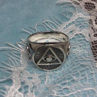 プロビデンスの目 ピラミッド シルバー925 万物を見通す目 三角フリーメイソン(リング(指輪))