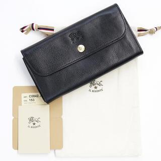 イルビゾンテ(IL BISONTE)の新品 イルビゾンテ 二つ折り 財布 ブラック 長財布 コインケース 大容量 人気(財布)