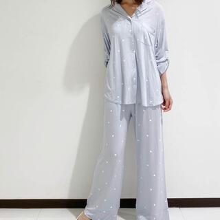 gelato pique - ジェラートピケハートシャツ&ロングパンツセット☆ブルー