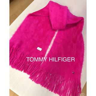 トミーヒルフィガー(TOMMY HILFIGER)のTOMMY HILFIGER❤︎ふわふわピンクマフラー 未使用品(マフラー/ショール)