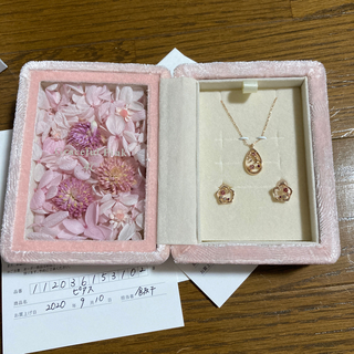 4℃ - Graceful Pink ピアス ネックレス セット