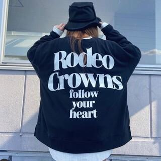 ロデオクラウンズワイドボウル(RODEO CROWNS WIDE BOWL)の新品ブラック※早い者勝ちノーコメント即決しましょう❗️ご決断お急ぎください…(トレーナー/スウェット)