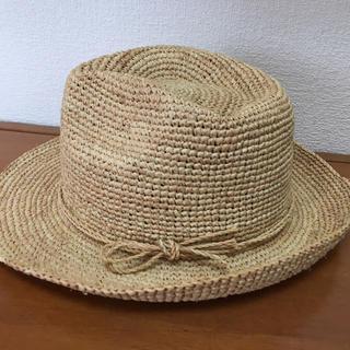 MUJI 無印良品 ラフィアハット ブラウン 麦わら帽子