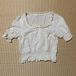 mellow neon 半袖 ブラウス インスタ(シャツ/ブラウス(半袖/袖なし))