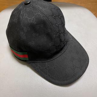 Gucci - GUCCI(グッチ)黒色帽子 Lサイズ59センチ