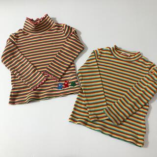 ホットビスケッツ(HOT BISCUITS)のミキハウス 2点セット カットソー 長袖シャツ ロンT ボーダー 100cm(Tシャツ/カットソー)