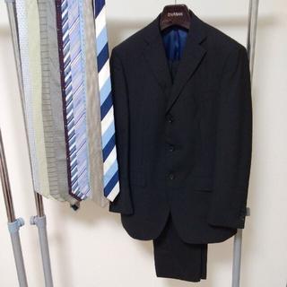 ORIHICA - オリヒカ スーツ 上下セットアップ ブラック 秋冬用 ネクタイ10本付