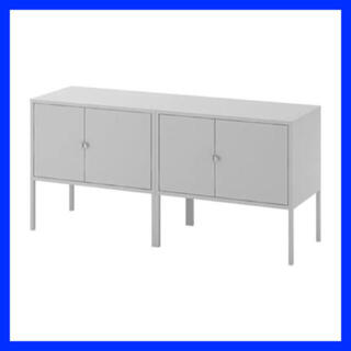 イケア(IKEA)のIKEA LIXHULT リックスフルト キャビネット グレー  2台  (棚/ラック/タンス)