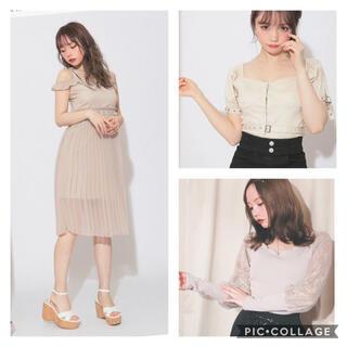 【新品&1回着用】and mary 洋服3点 黒瀧まりあ(ミニワンピース)