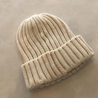 ブラウニー(BROWNY)の【WEGO】ニット帽 ニットキャップ/アイボリー生成色(ニット帽/ビーニー)
