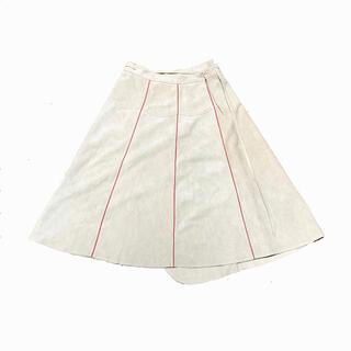 マルタンマルジェラ(Maison Martin Margiela)のビンテージ スウェード 巻きスカート(ロングスカート)