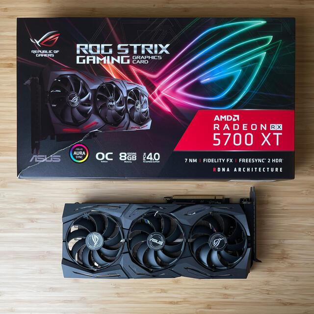ASUS(エイスース)のASUS 5700XT ROG STRIX 8GB スマホ/家電/カメラのPC/タブレット(PCパーツ)の商品写真