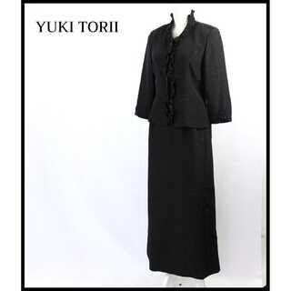 YUKI TORII INTERNATIONAL - ユキトリイ★ラメ感 刺繍 フォーマル セットアップ 黒 9号 11号 秋 上品