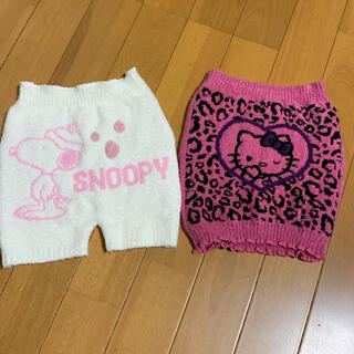 SNOOPY - SNOOPY  冬物 一分丈 スパッツ・キティちゃん 冬物 腹巻き