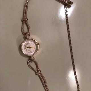 【時計】agete  時計 クラシック 時計 ダイヤモンド付【美品】