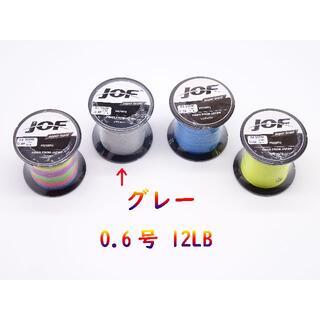 JOF PEライン 12lb 0.6号 グレー 4編み 300m(釣り糸/ライン)