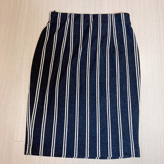 ヴィス(ViS)のストライプのストレッチスカート(ひざ丈スカート)