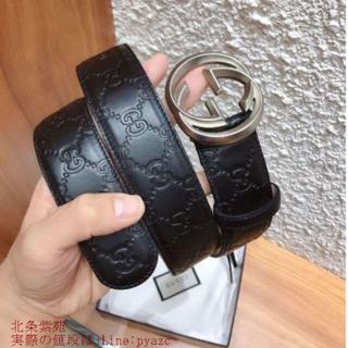 Hermes - グッチ 大人気 ダブルGバックル レザー ベルト 3.8 cm幅