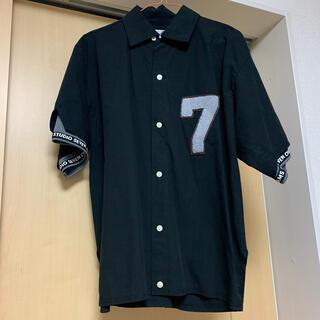 ジーユー(GU)の【人気完売】半袖シャツ オープンカラーシャツ メンズ 黒 GU スタジオセブン(シャツ)