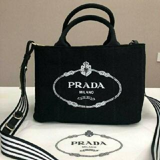 PRADA - プラダ カナパ ブラック トート ハンドバッグ