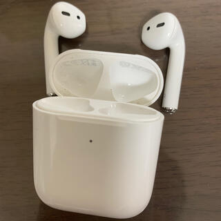 Apple - AirPods 第二世代  動作品 Apple ワイヤレス充電